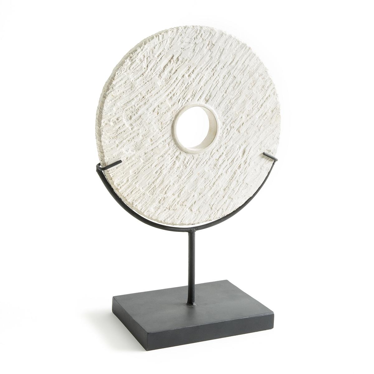 Предмет декоративный в виде римского колеса, PlatnoРимское колесо Platno. Красивый декоративный предмет из камня на металлическом основании. Размеры : Ш.30 x В.45 x Г.15 см.<br><br>Цвет: каменно-бежевый