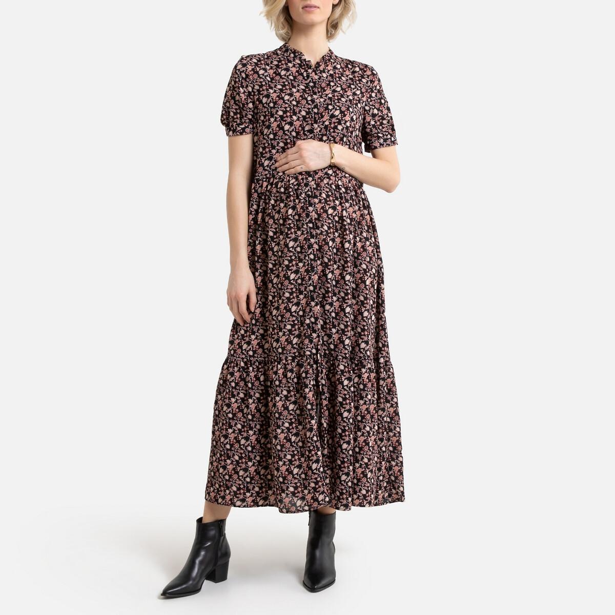 Платье La Redoute Для периода беременности длинное на пуговицах 40 (FR) - 46 (RUS) разноцветный платье la redoute длинное amandine s разноцветный