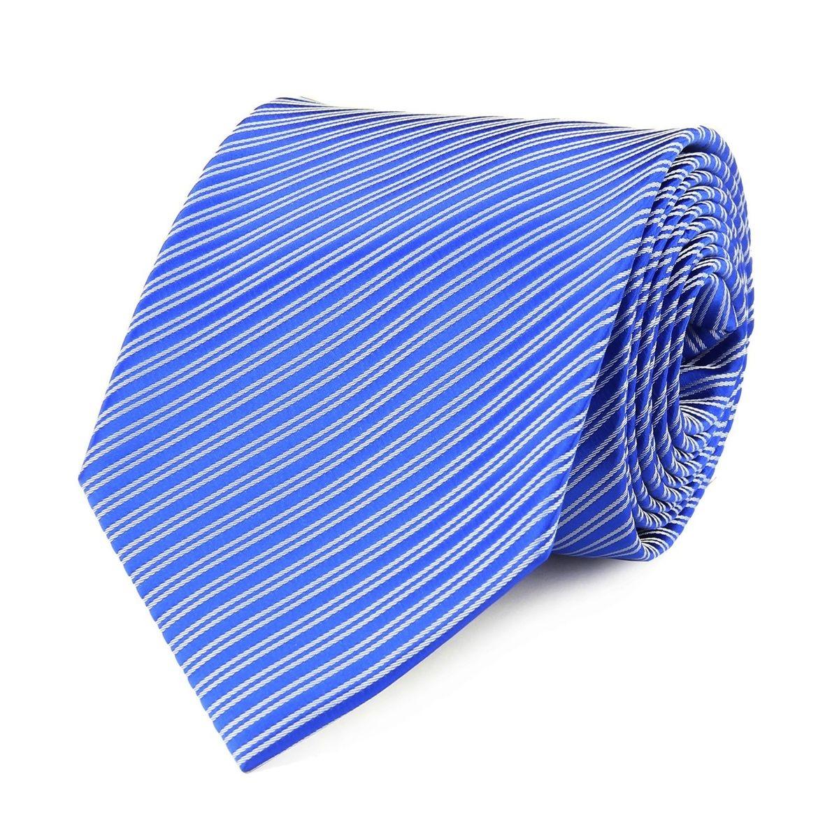 Cravate faux uni bleu saphir