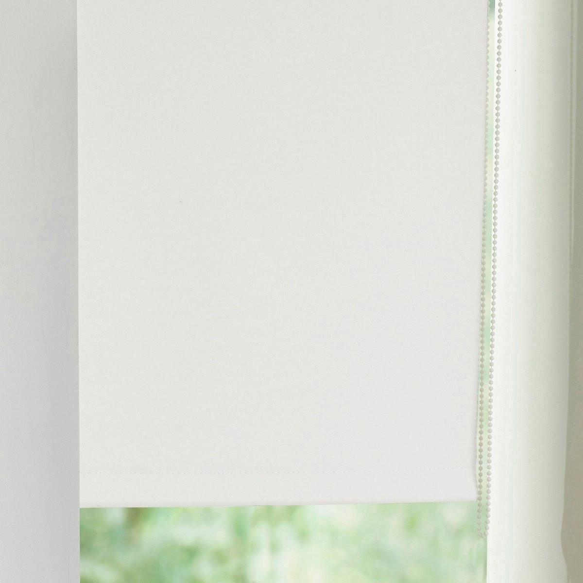 Штора LaRedoute Затемняющая узкая Scenario 170 x 37 см белый штора laredoute затемняющая с люверсами 100 хлопок scenario 220 x 135 см розовый