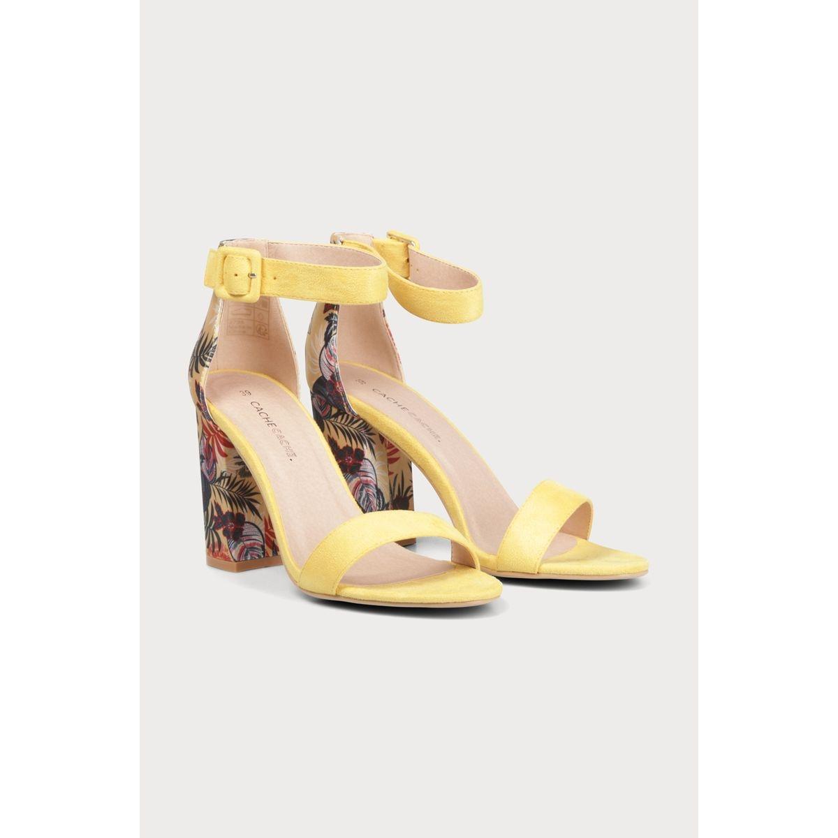 Sandales à talons bimatière