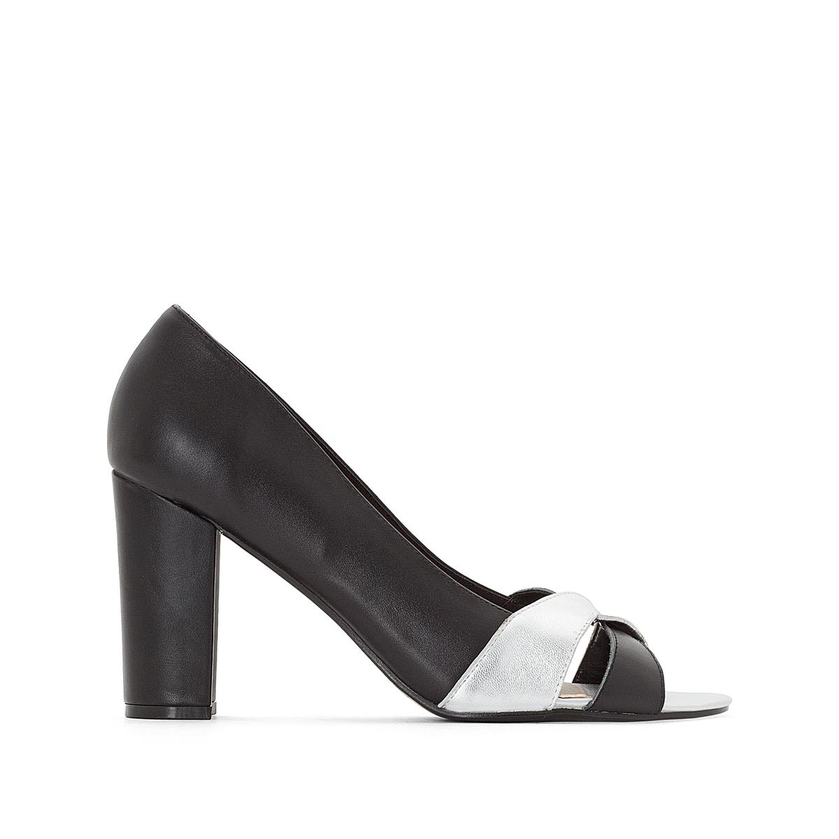 цена на Туфли La Redoute Кожаные двухцветные подходят для широкой стопы размеры - 44 черный