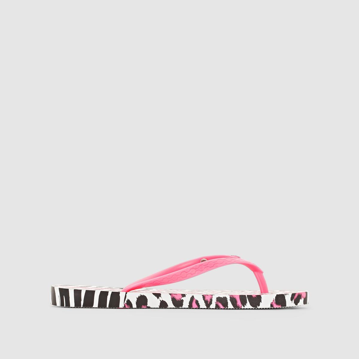 Вьетнамки Animal Print II FemВерх/Голенище : каучук   Стелька : каучук   Подошва : каучук   Форма каблука : плоский каблук   Мысок : открытый мысок   Застежка : без застежки<br><br>Цвет: рисунок леопард/розовый<br>Размер: 38.35/36