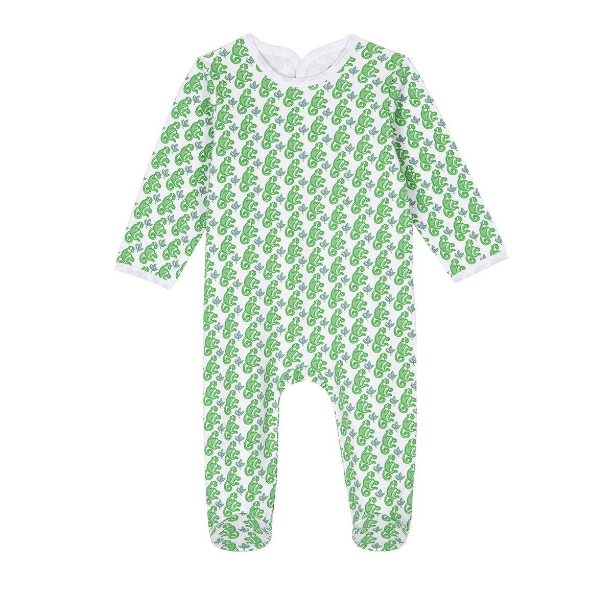 Pyjama bébé en coton bio - Imprimé Matcha Monkey