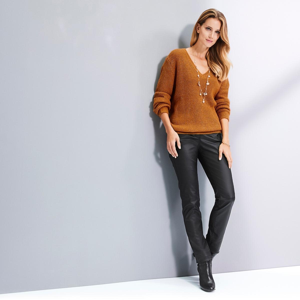 Imagen adicional 3 de producto de Pantalón recto con revestimiento stretch - Anne weyburn