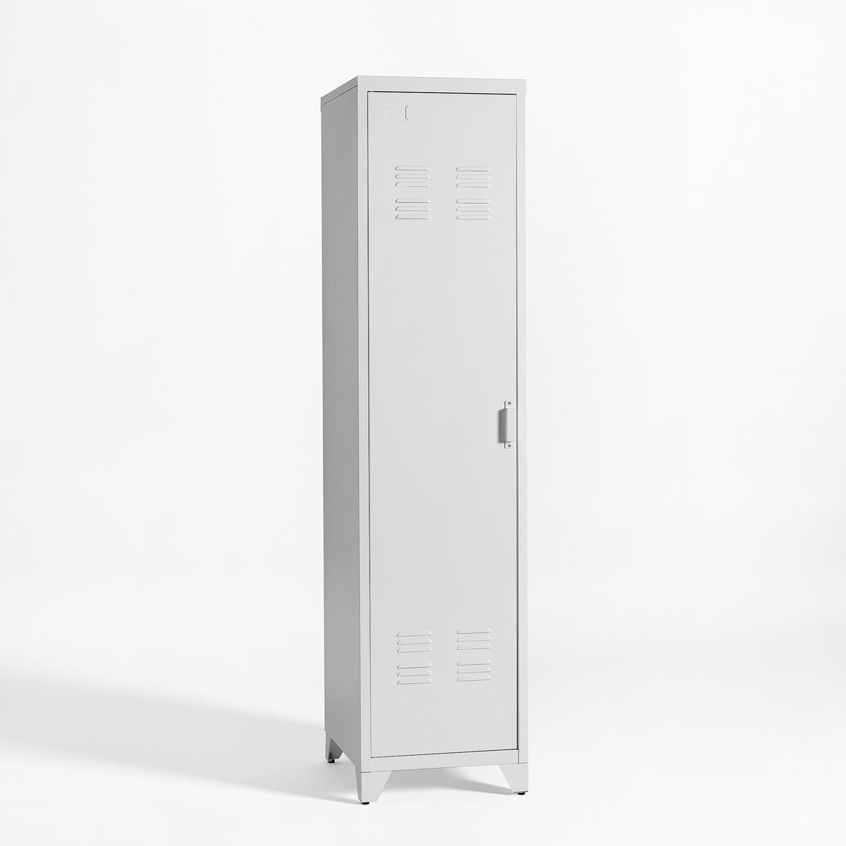 Шкаф для одежды с одной дверцей металлический в американском стиле, Hiba