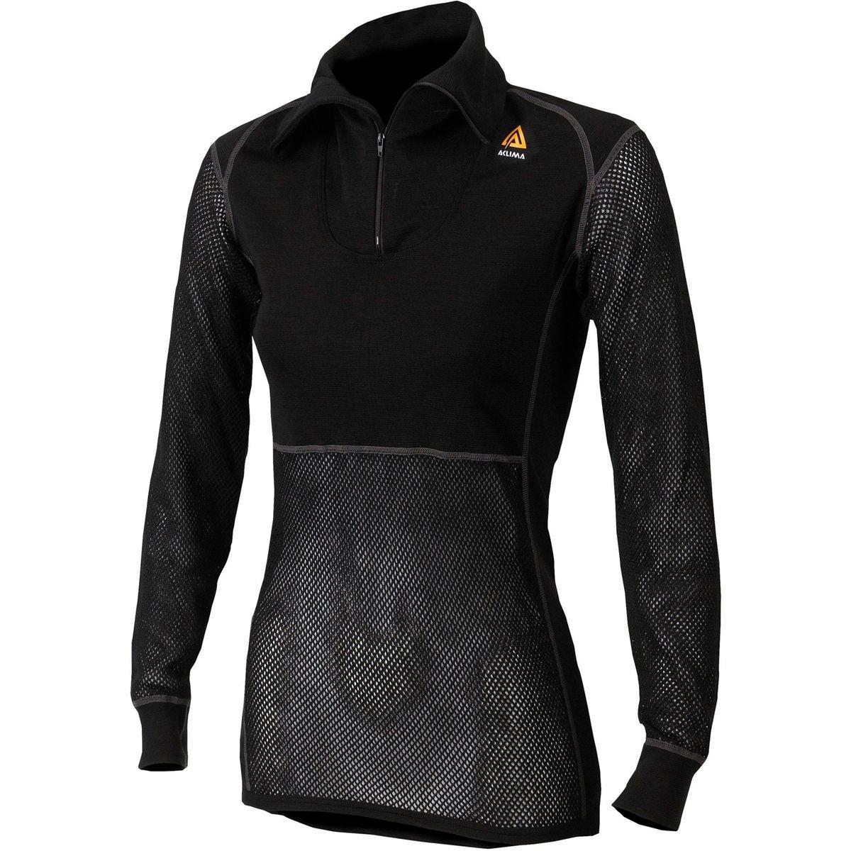 WoolNet - Sous-vêtement Femme - with Zip noir