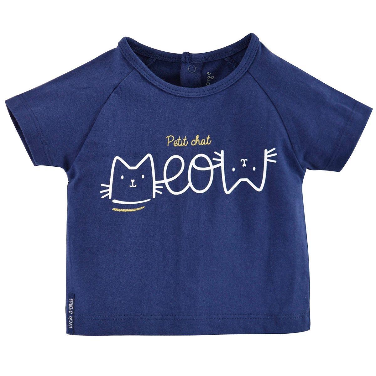 T-shirt marine 3 mois-24 mois