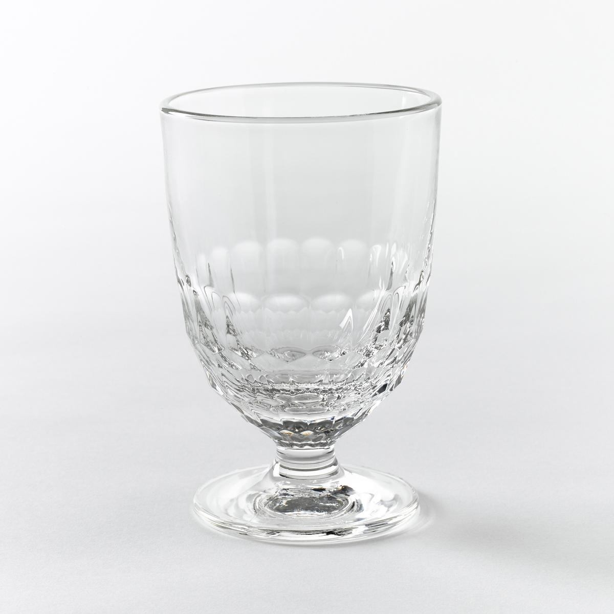 Комплект стаканов для воды с декором в виде сот Artois (6 шт)6 стаканов для воды с декором в виде сот, Cohani  : элегантный стакан для изысканного стола.Характеристики стаканов, Cohani  :- Прессованное стекло, очень прочное- Рельефный декор в виде сот.- Объем 315 см3.- Диаметр 8,3 x Высота 12,6 см.- Можно использовать в посудомоечной машине.- Произведено во Франции.Откройте для себя стаканы для вина того же набора на сайте laredoute.ru<br><br>Цвет: стеклянный прозрачный