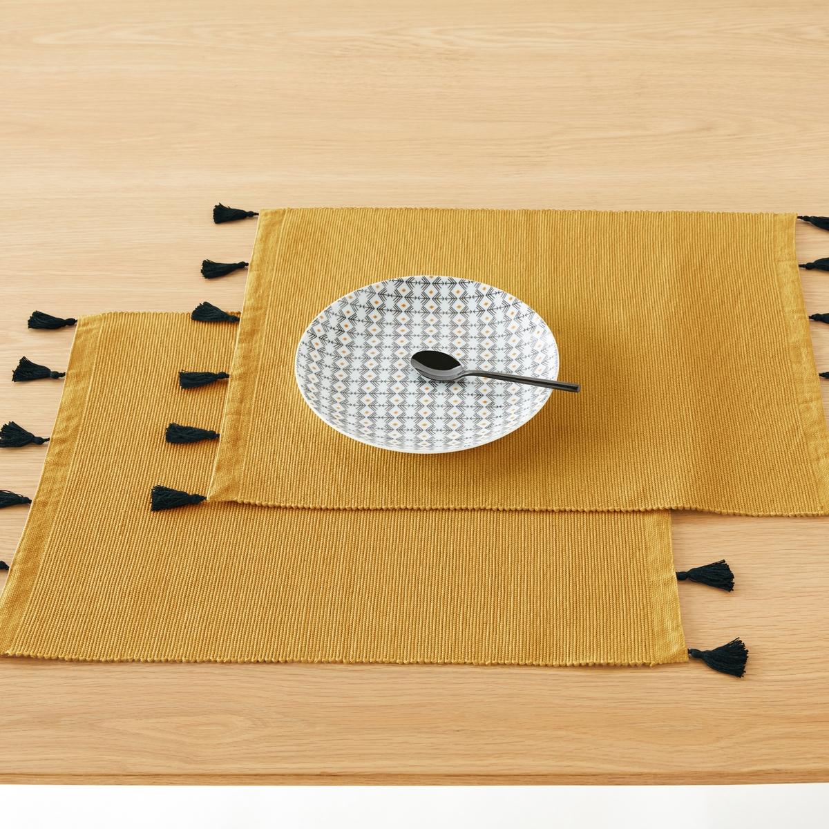 Комплект из подставок под La Redoute Приборы POMPONS единый размер желтый