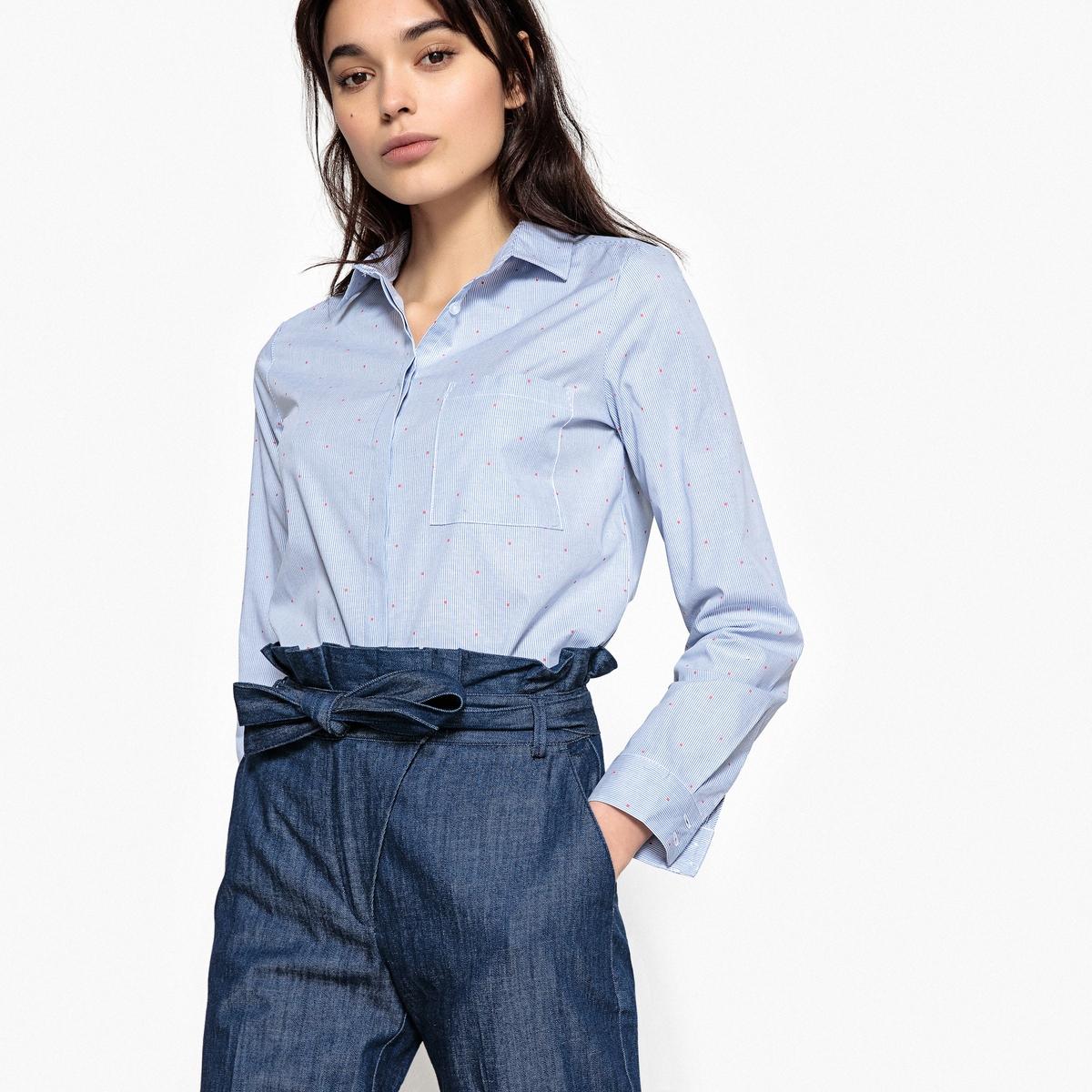 Camisa cintada, mangas compridas