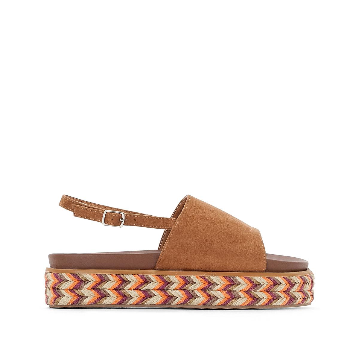 zapatillas Mules con plataforma y efecto trenzado