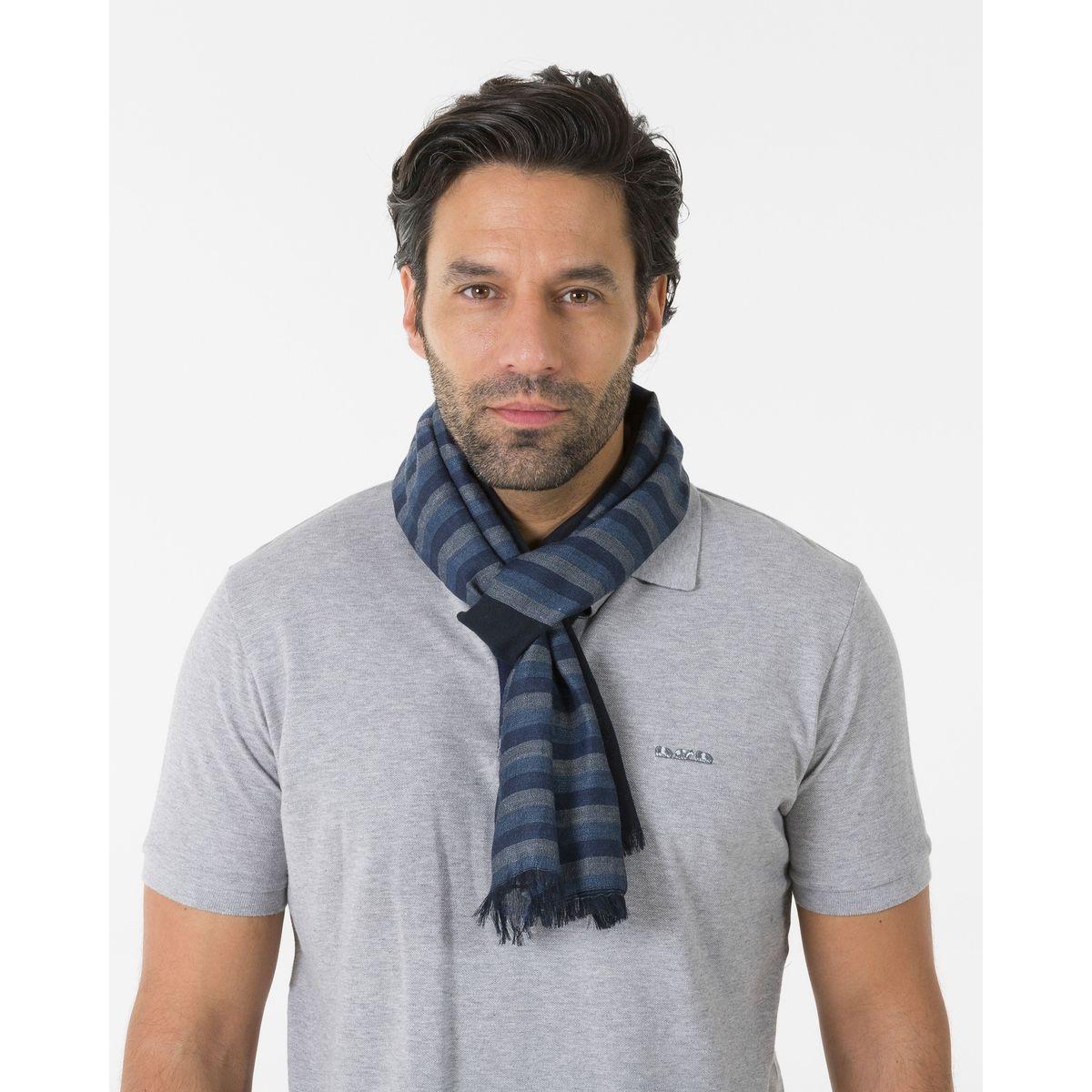 Foulard rayures placées / BLEU
