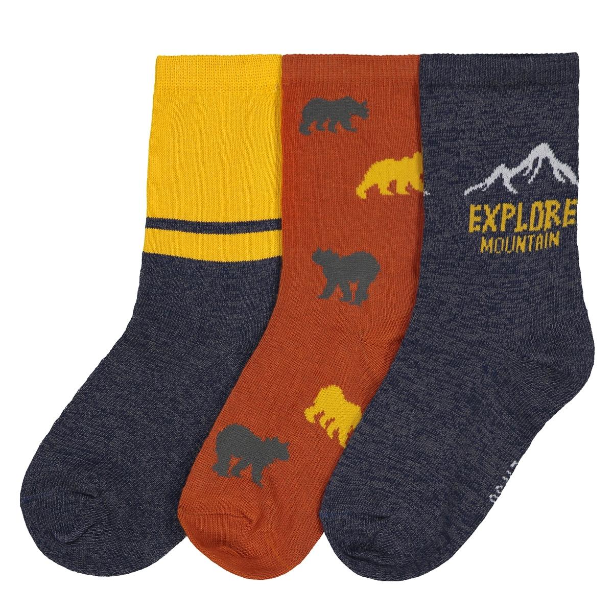 Комплект из 3 пар носков, 23/26-35/38 комплект из 4 пар носков размеры 15 18 23 26
