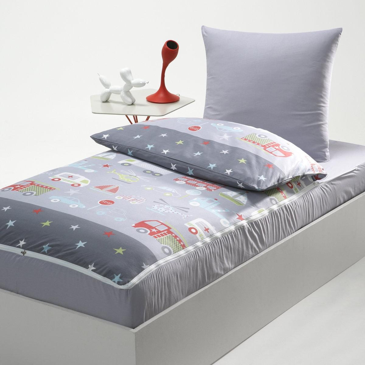 La Redoute Interieurs Комплект без одеяла готов ко сну с рисунком TRANSPORT