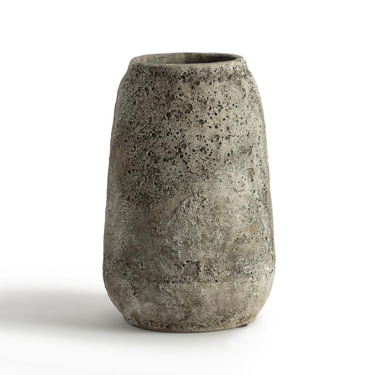 Ваза из цемента ?22 см, SeraxЦементная ваза от S?rax возвращает к истокамОписание : - Из цементаРазмеры :- Высота 33 см- ?22 см<br><br>Цвет: серо-бежевый