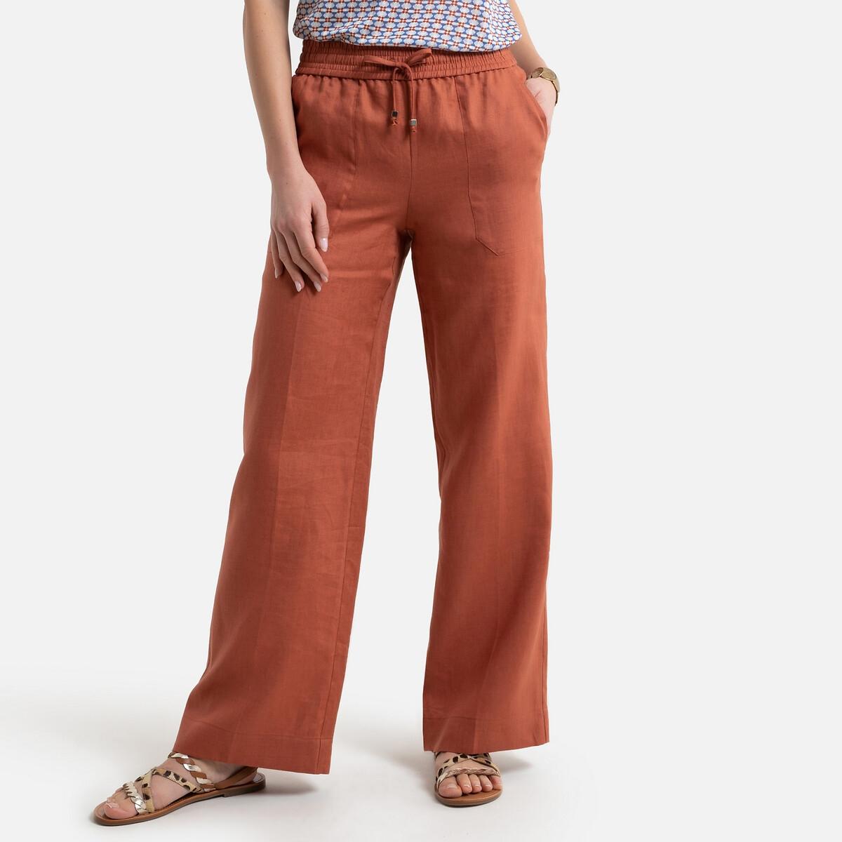 Pantalon large et évasé, en lin