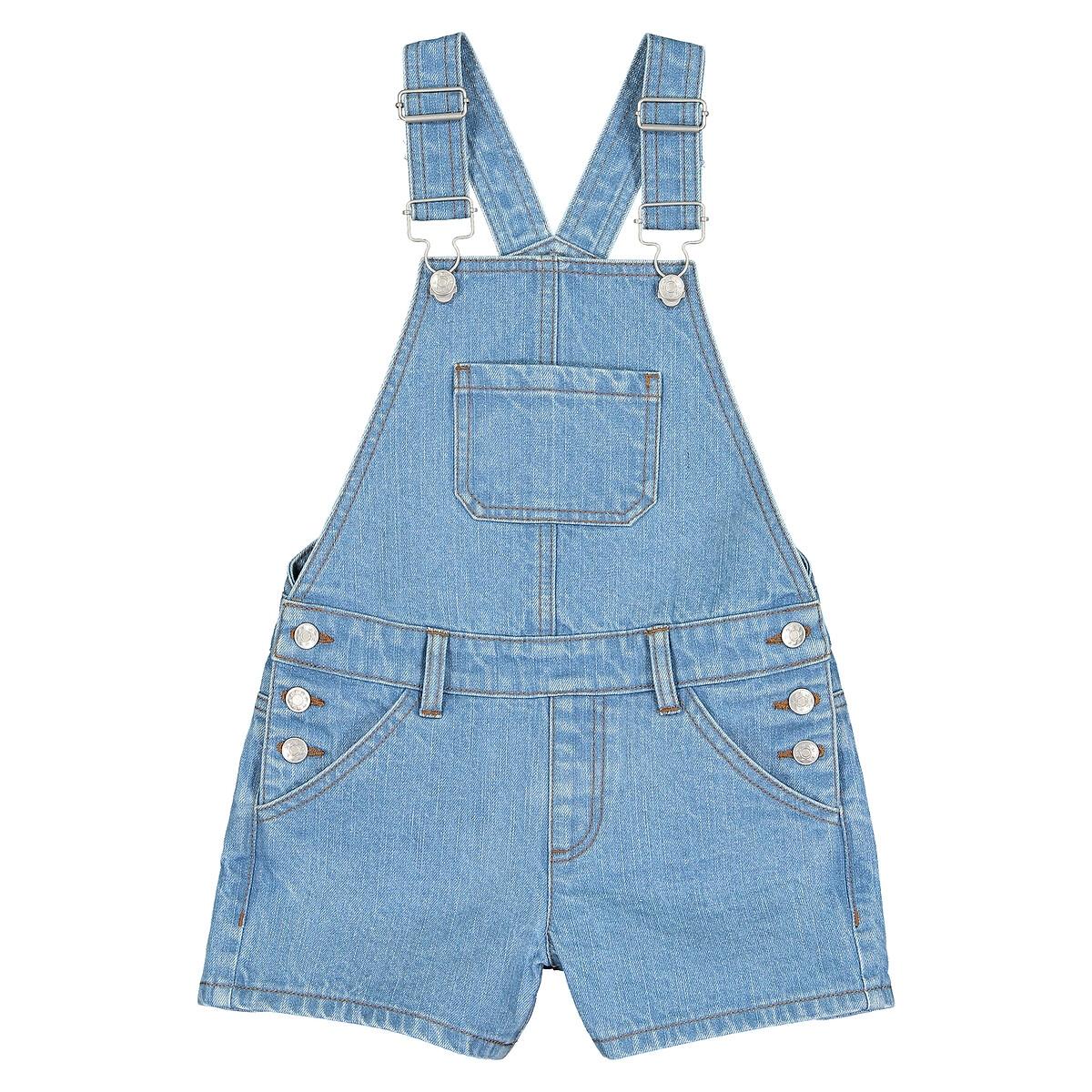 Комбинезон LaRedoute Короткий из джинсовой ткани 3-12 лет 5 синий