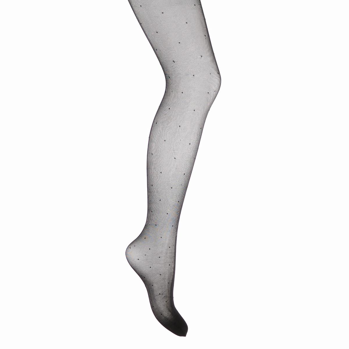 Колготки фантазийные из вуали с вышивкой гладьюКолготки фантазийные из вуали с вышивкой гладью . 20 ден .Состав и уход •  88% полиамида, 12% эластана<br><br>Цвет: черный<br>Размер: 2(M).3(L).1(S).4(XL).5(XXL)