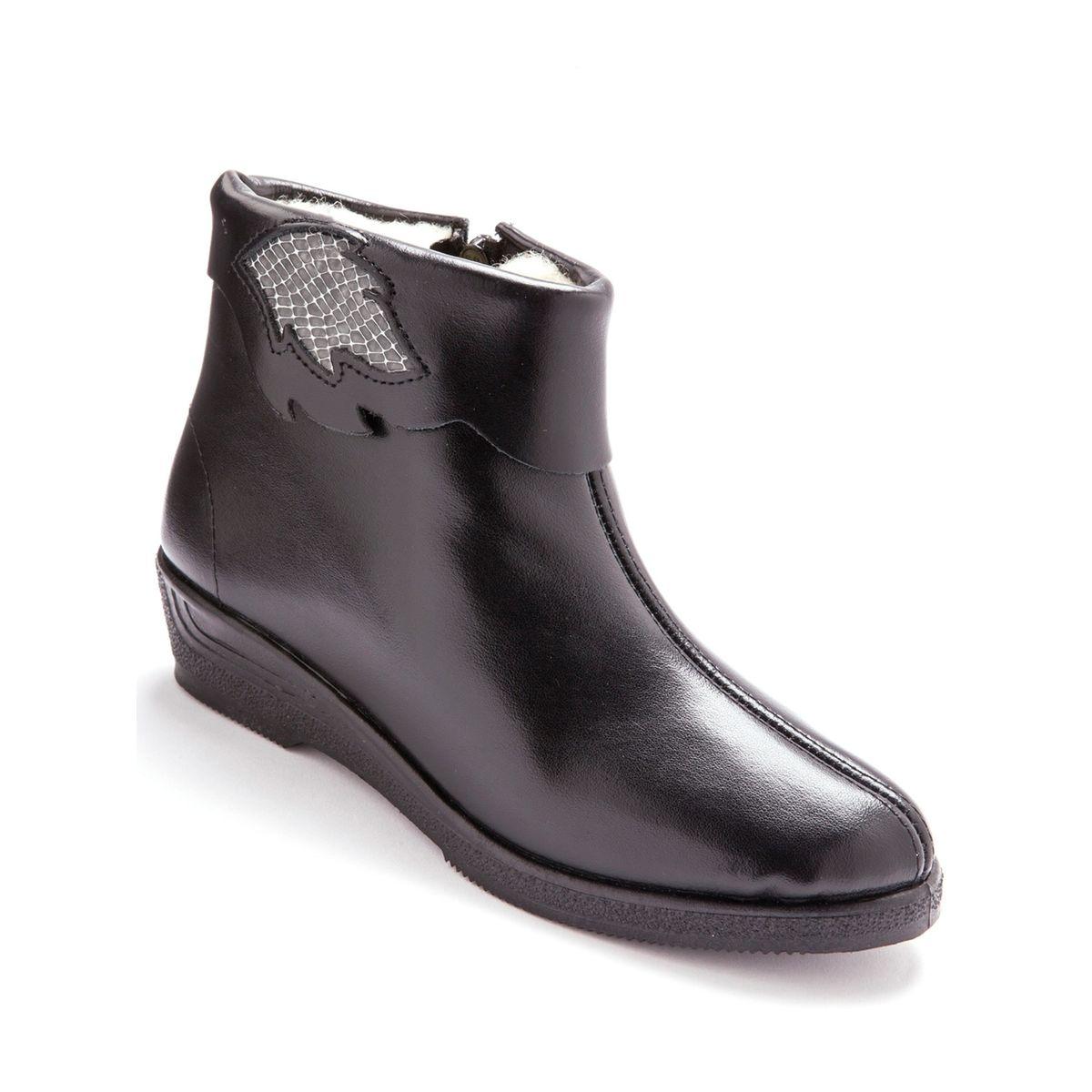 Boots cuir, fourrés pure laine