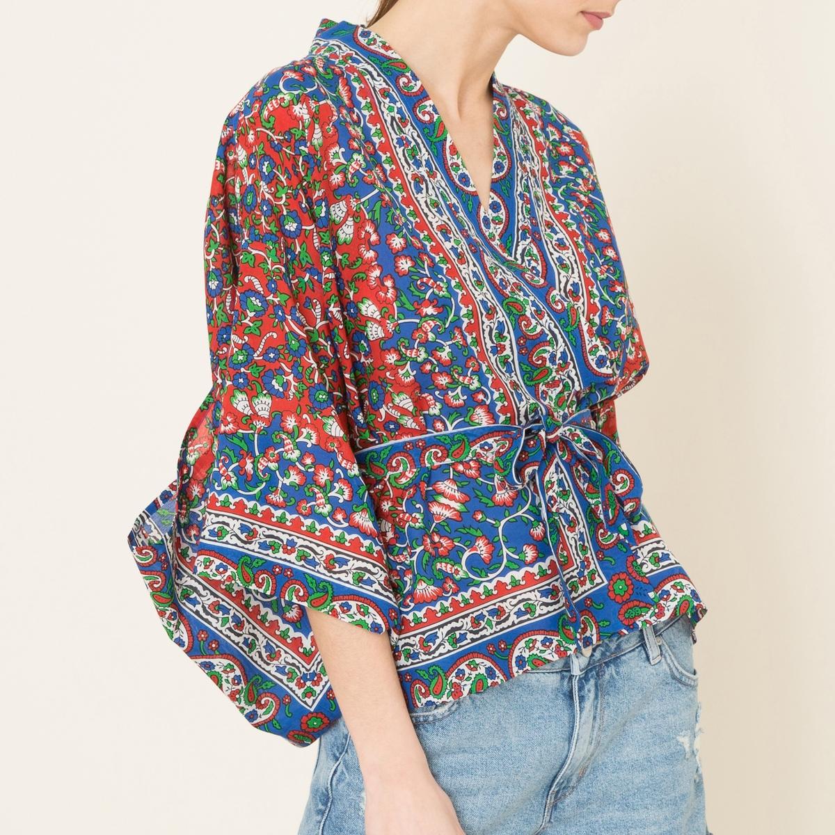 Рубашка BIANCA рубашка с принтом и с кожаной отделкой