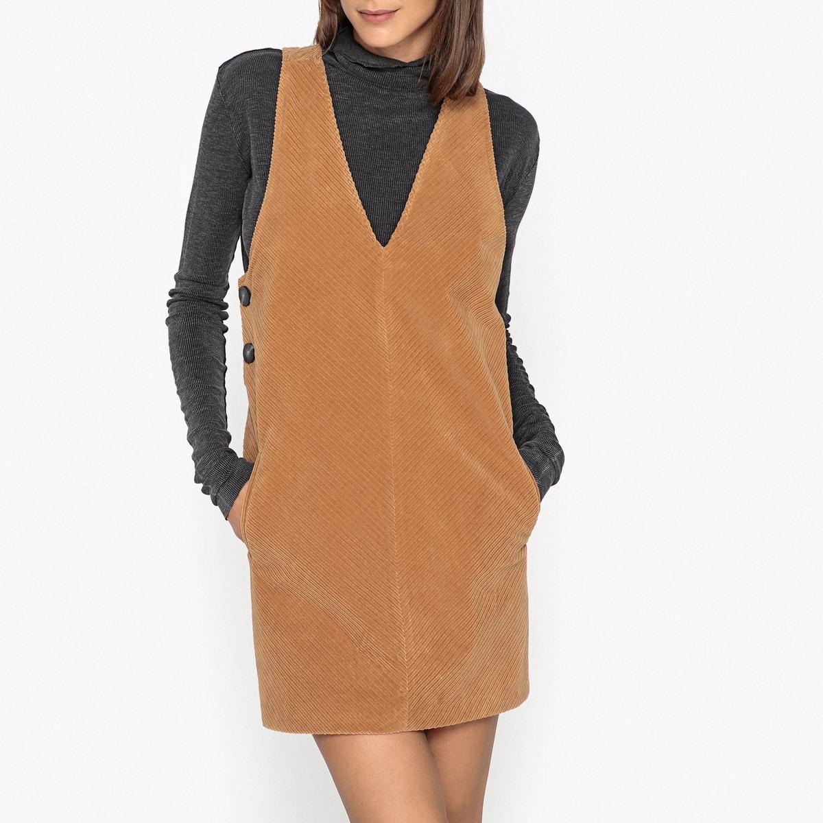 Платье без рукавов из вельвета TWIGGY