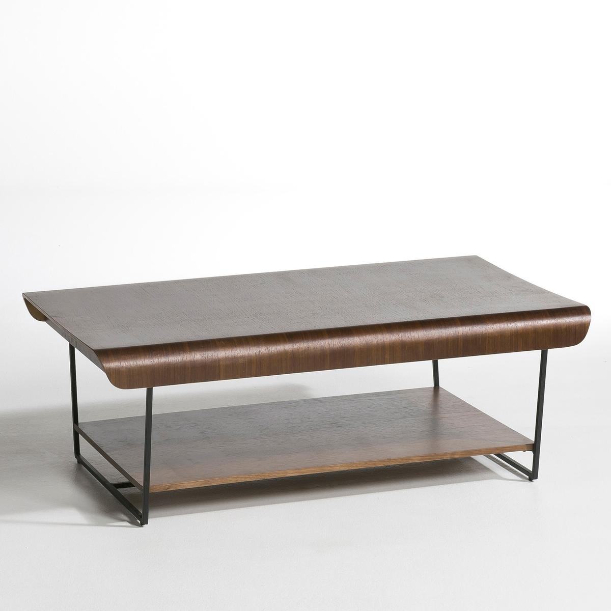 Столик LaRedoute Журнальный Bardi дизайн Э Галлины единый размер каштановый столик laredoute журнальный из дуба покрытого олифой adelita единый размер каштановый