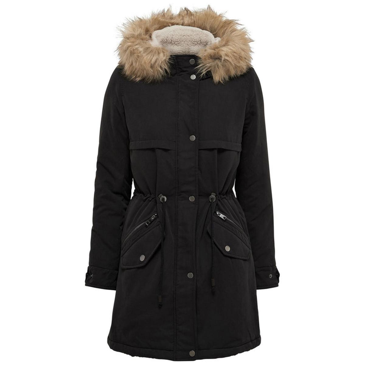 Пальто-парка с капюшоном средней длины куртка средней длины с капюшоном