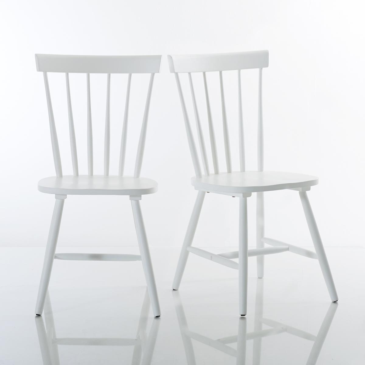 Комплект из стульев с La Redoute Перекладинами из массива гевеи JIMI единый размер белый