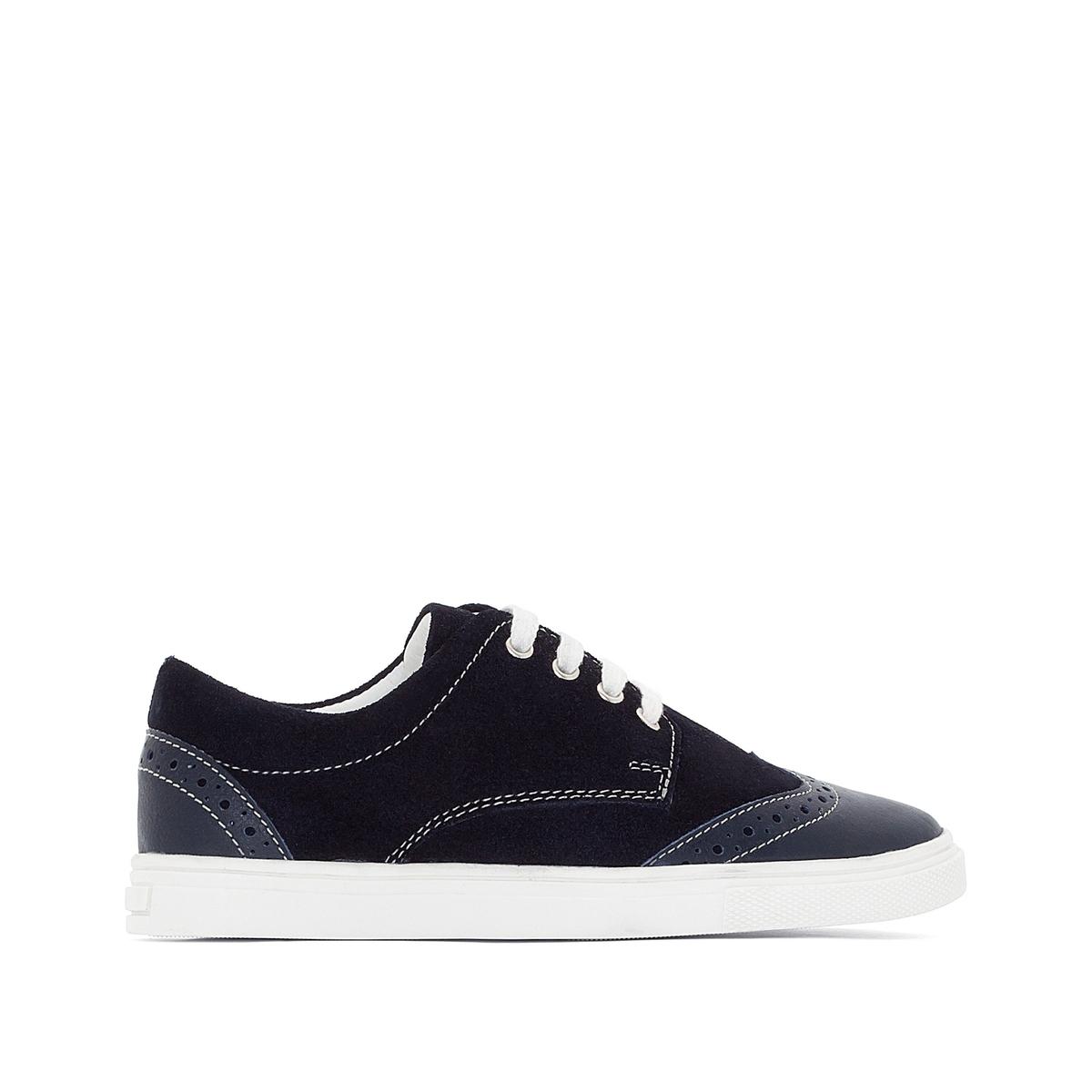 Ботинки-дерби кожаные на шнуровке от La Redoute