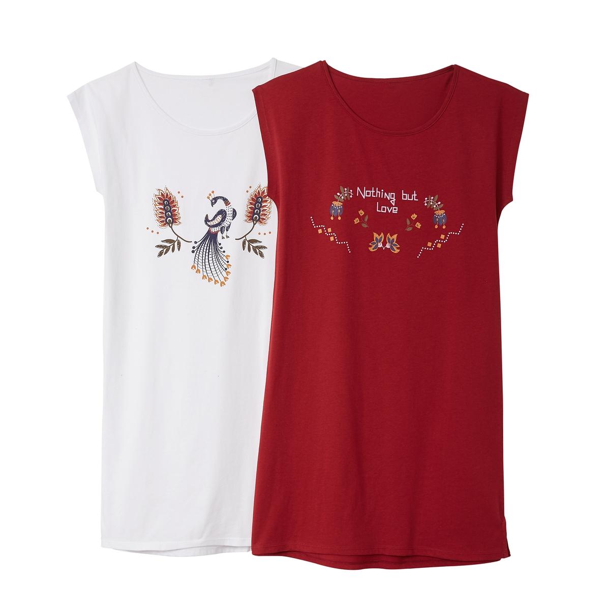 2 ночные рубашки из хлопка ночные сорочки и рубашки