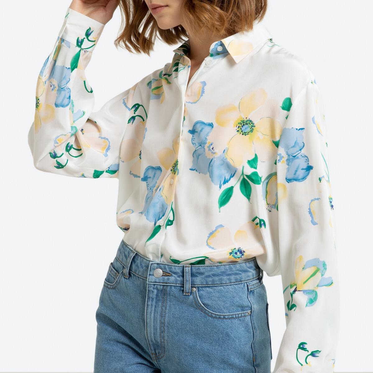 Блузка La Redoute С цветочным принтом 40 (FR) - 46 (RUS) разноцветный