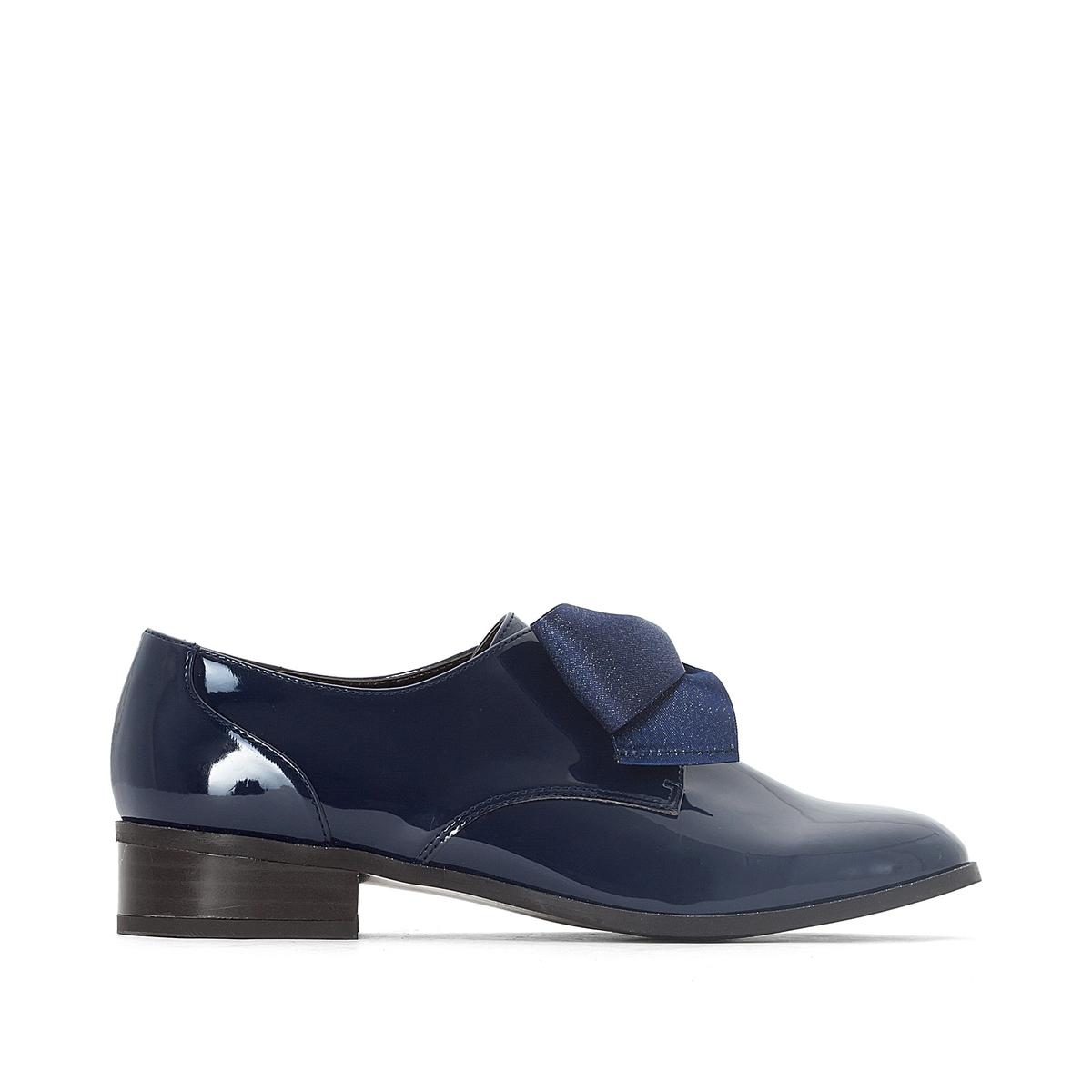 Ботинки-дерби с большим бантом ботинки дерби под кожу питона