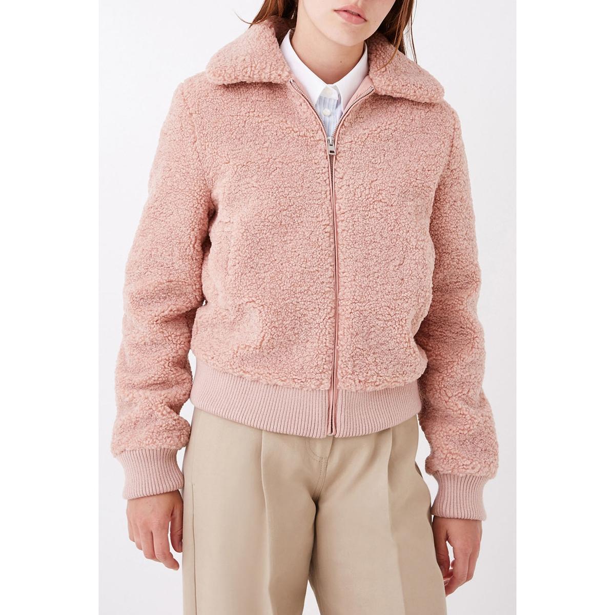 Пальто La Redoute Укороченное букле BOOBA 40 (FR) - 46 (RUS) розовый