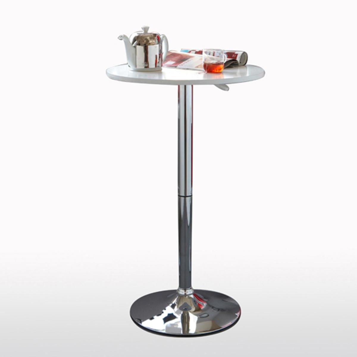 Стол барный Janik, регулируемый по высотеАвтоматически регулируемый по высоте барный столик Janik подарит Вам самый высокий уровень комфорта! Подходящие барные стулья Вы найдете на сайте laredoute.ru. Описание:Регулируется по высоте: автоматически подымается и опускается - для Вашегокомфорта: от 83 до 108 см.Противоскользящая вставка под основанием.Данная модель стола требует самостоятельной сборки. Характеристики:- Столешница из МДФ с покрытием полиуретановым лаком.- Ручка, основание и подставка для ног из хромированной стали.Откройте для себя другие модели мебели из коллекции Janik на сайте laredoute.ru.Размеры:Общие:- Столешница: ?60 см.- Основание: ?45 см.- Регулируемая высота: 83 - 108 см.<br><br>Цвет: белый