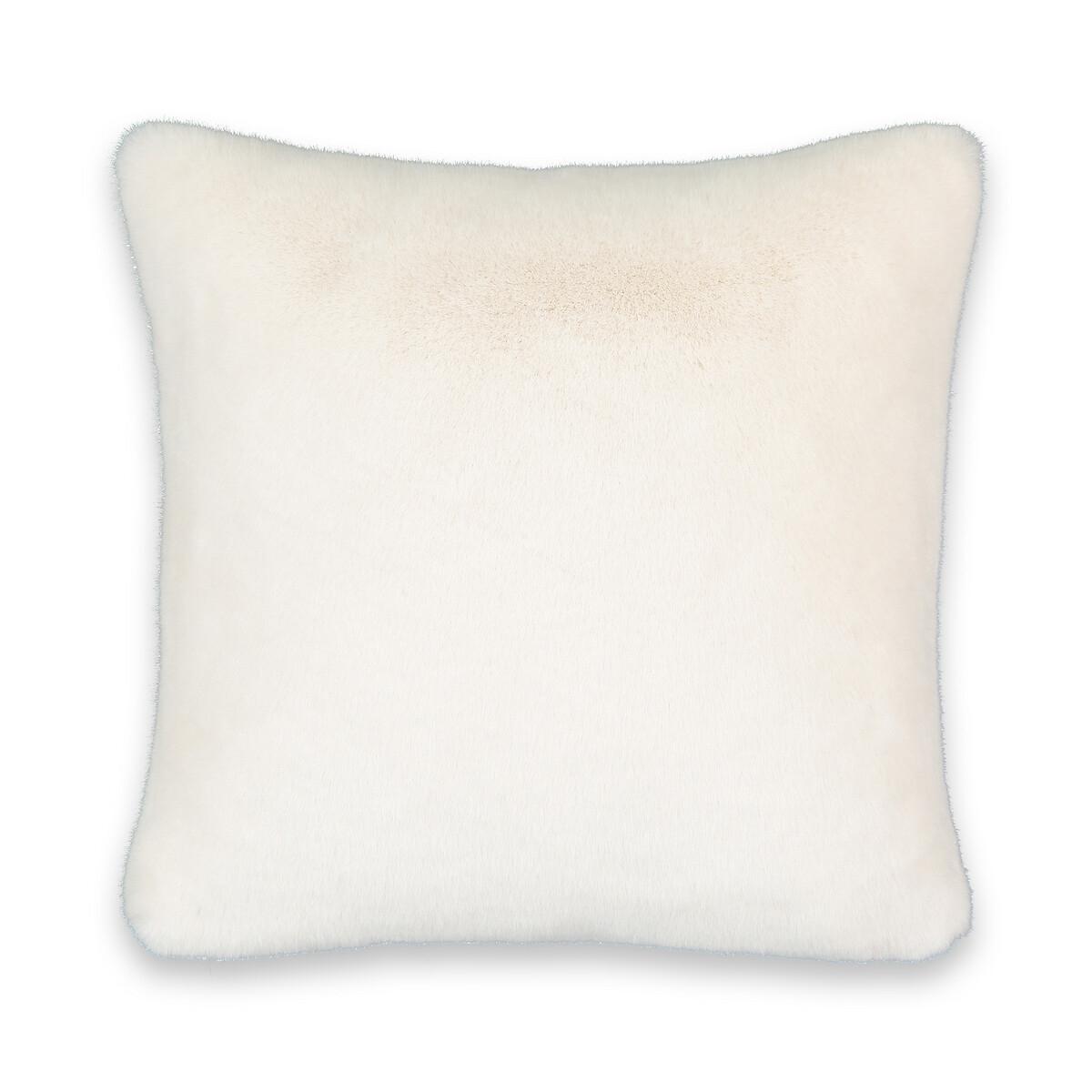 Чехол LaRedoute На подушку из искусственного меха 100 полиэстера Noursia 60 x 40 см белый