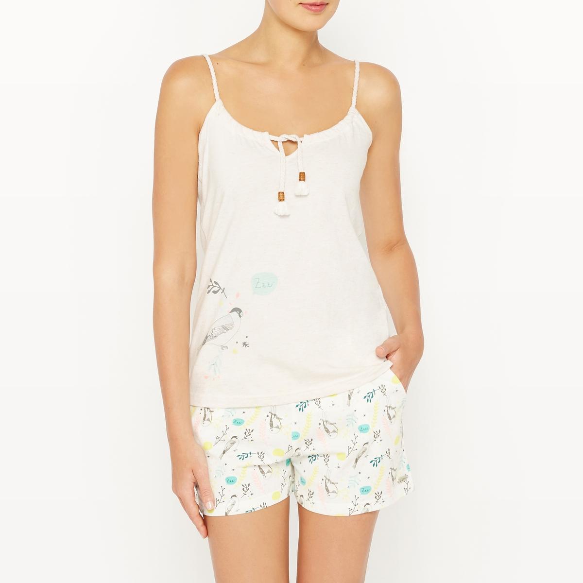 Пижама с шортами хлопковая SPRING