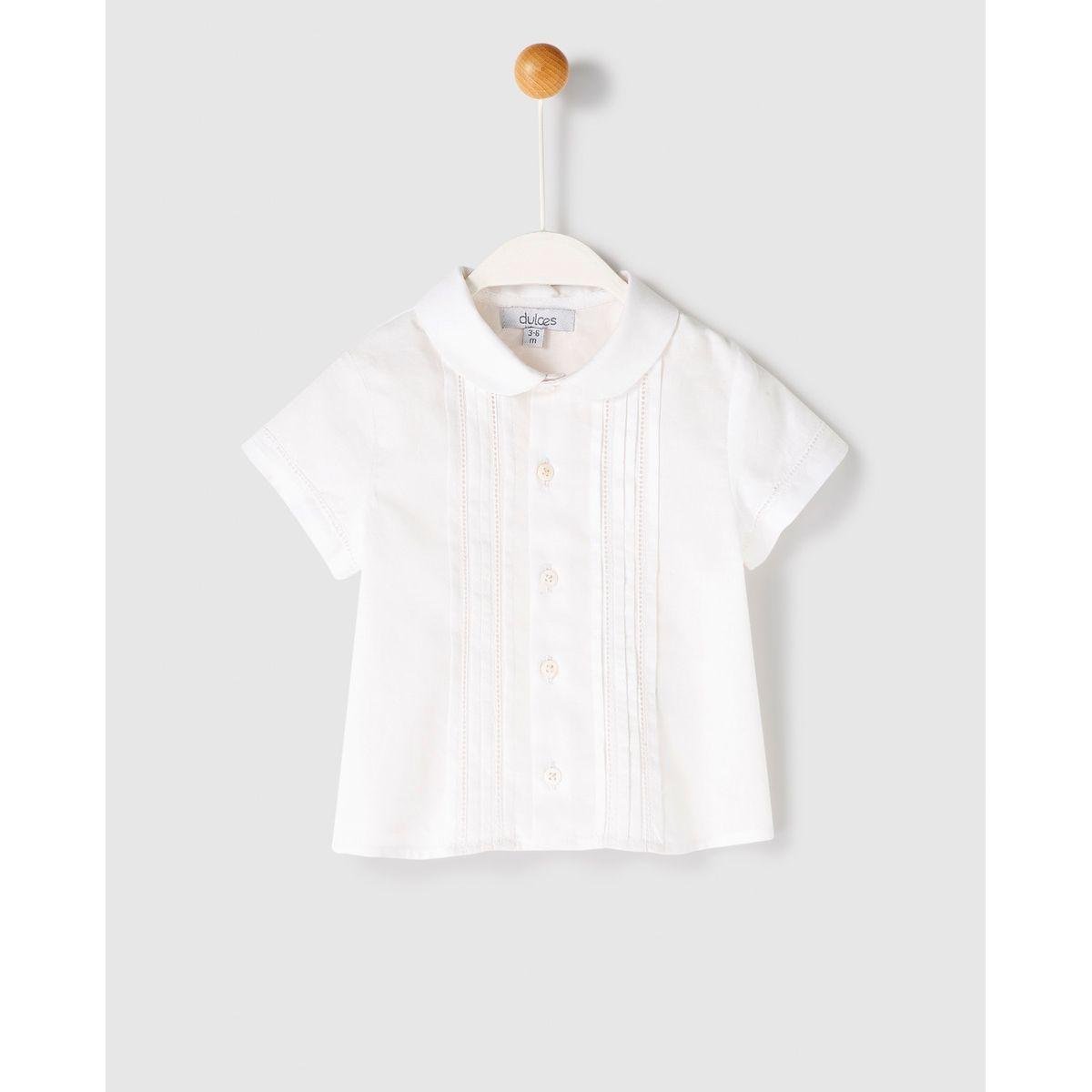 Chemise  à plis nervurés