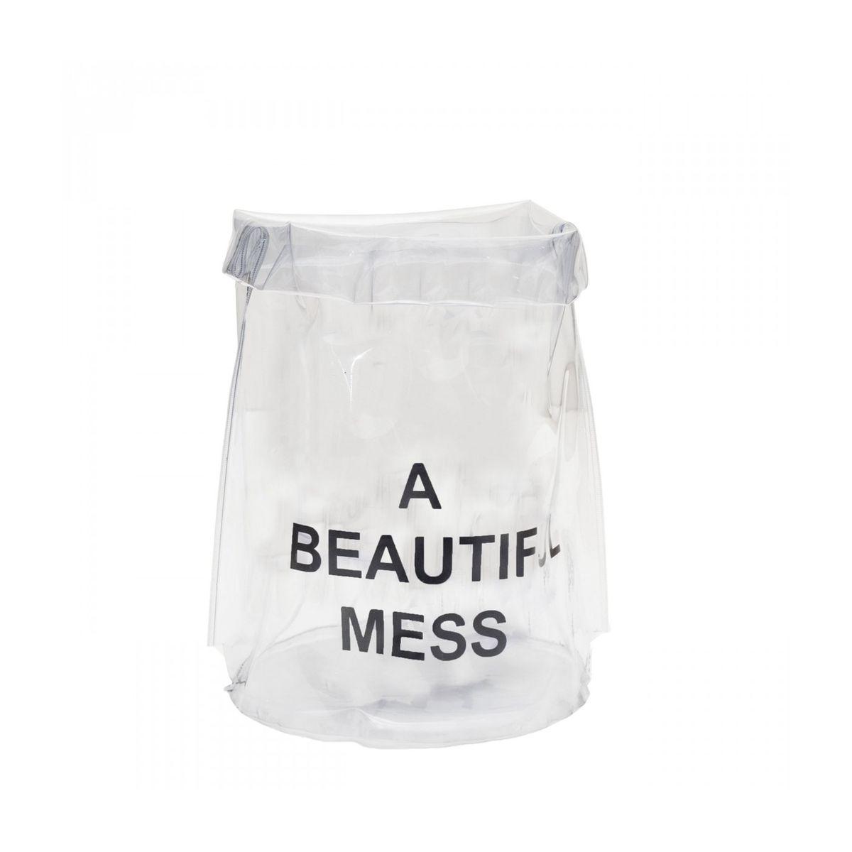 Corbeille à Papier Transparent Diam 21 x H 42 cm Nomess Copenhagen