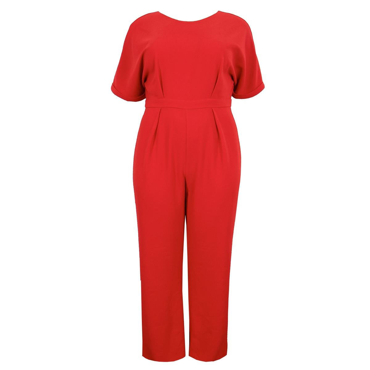 Комбинезон La Redoute С брюками широкого покроя 58/60 (FR) - 64/66 (RUS) красный