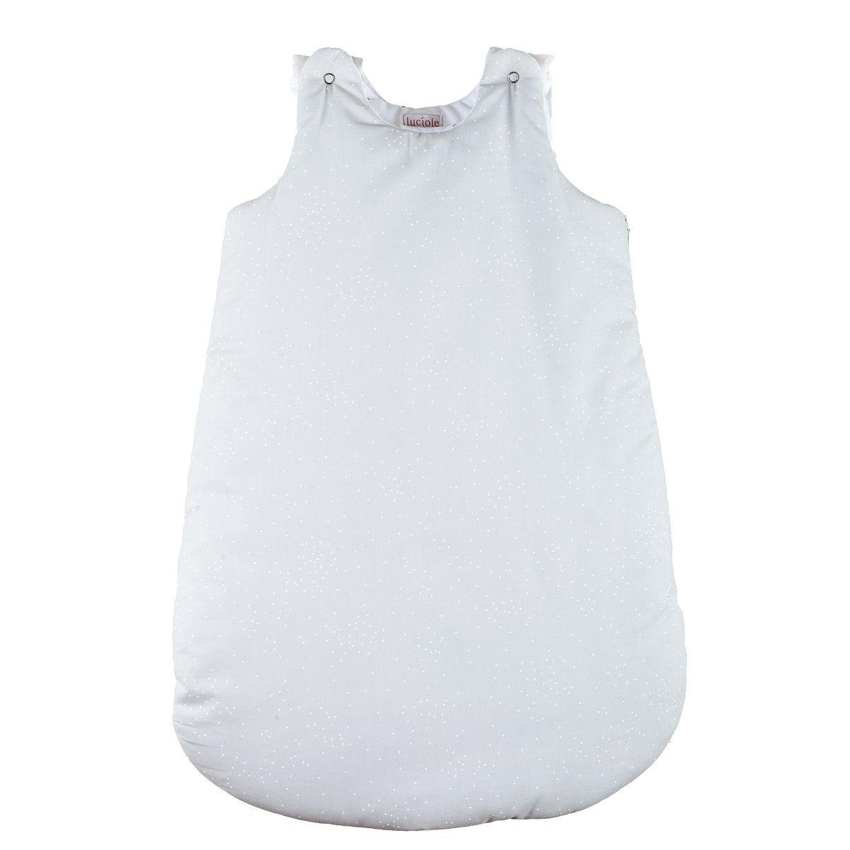 Gigoteuse bébé chaude mixte grise à pois blancs