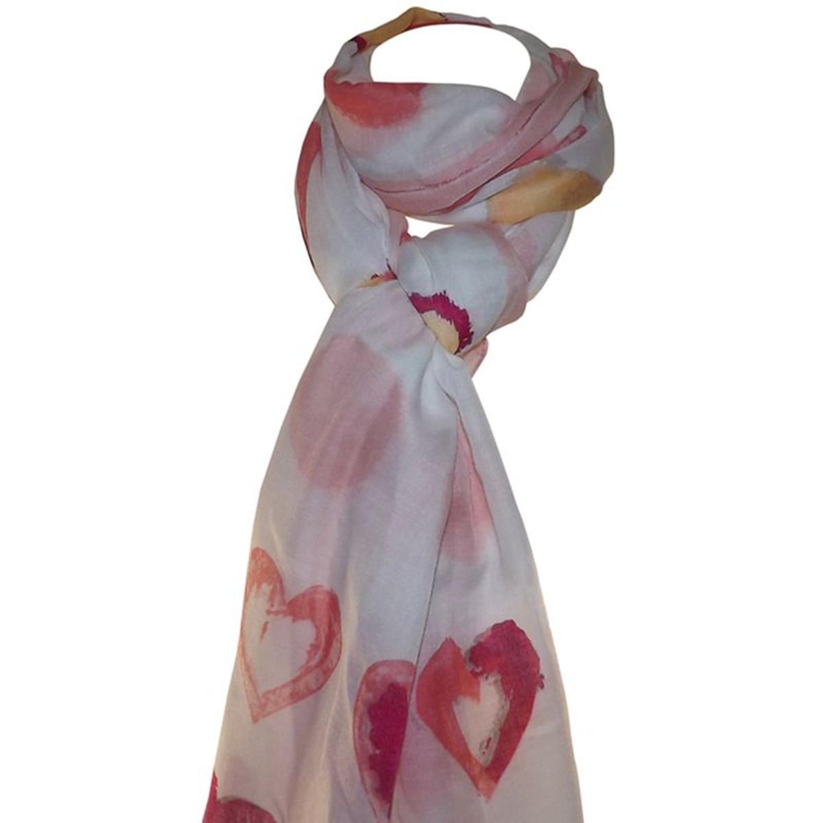 Grand foulard léger coeur