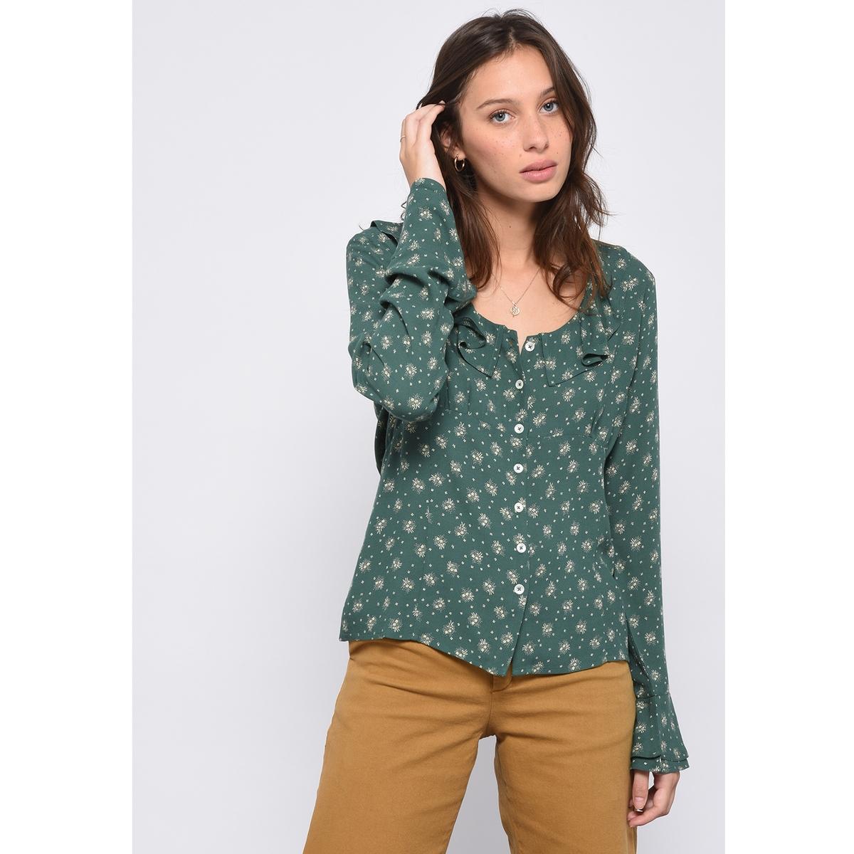 Рубашка с круглым вырезом с воланами CHOCOLAT