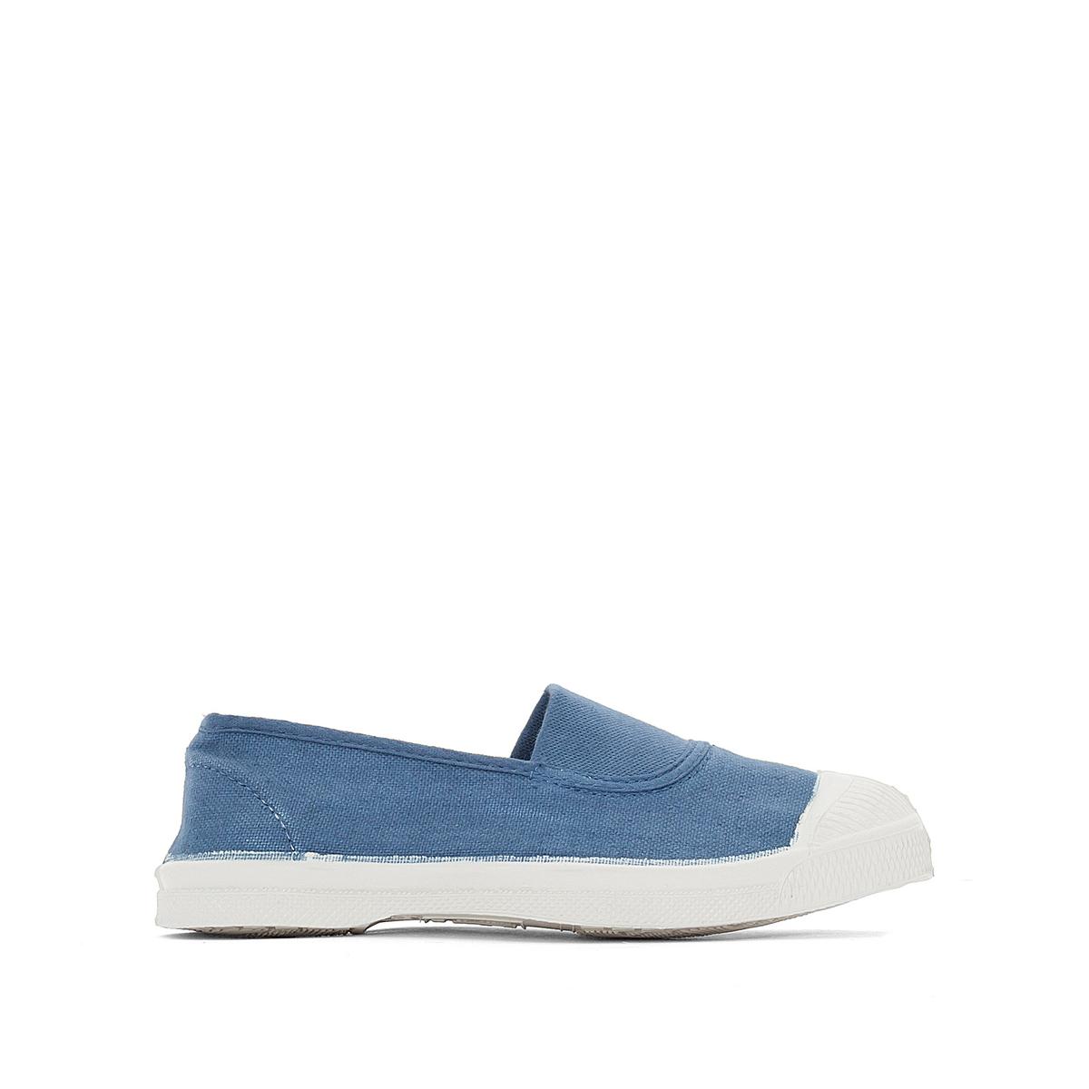 Кеды  ElastiqueДетали •  Спортивный стиль •  Плоский каблук •  Застежка : эластичная вставкаСостав и уход •  Верх 100% ткань •  Подкладка 100% текстиль •  Стелька 100% текстиль •  Подошва 100% каучук<br><br>Цвет: синий деним<br>Размер: 34.32