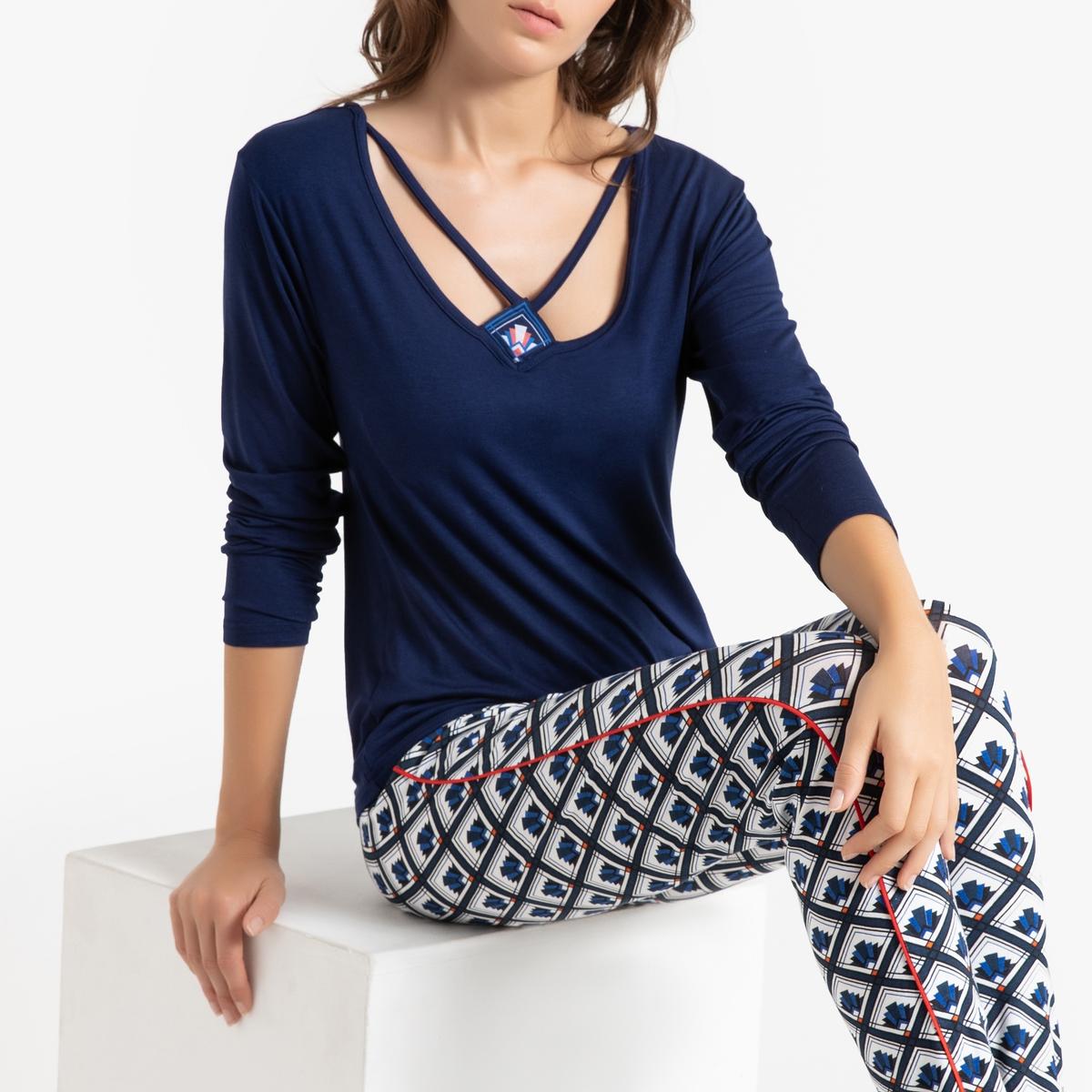 Пижама La Redoute Tie Desgin M синий
