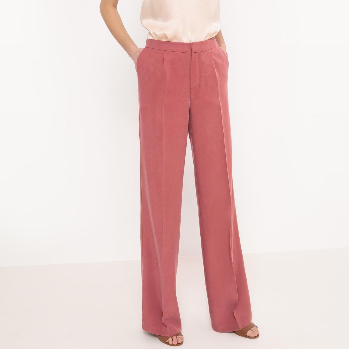 Брюки широкие из лиоцелла брюки из лиоцелла и льна