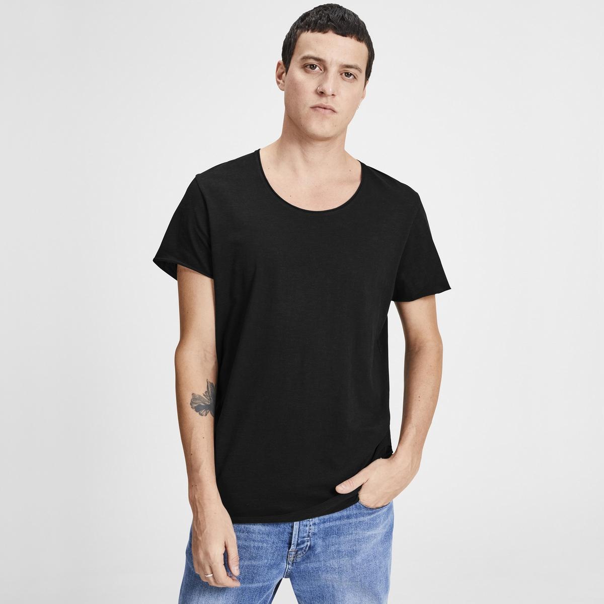 Футболка La Redoute С круглым вырезом и короткими рукавами S черный футболка la redoute с круглым вырезом и короткими рукавами ccharmeuse s белый