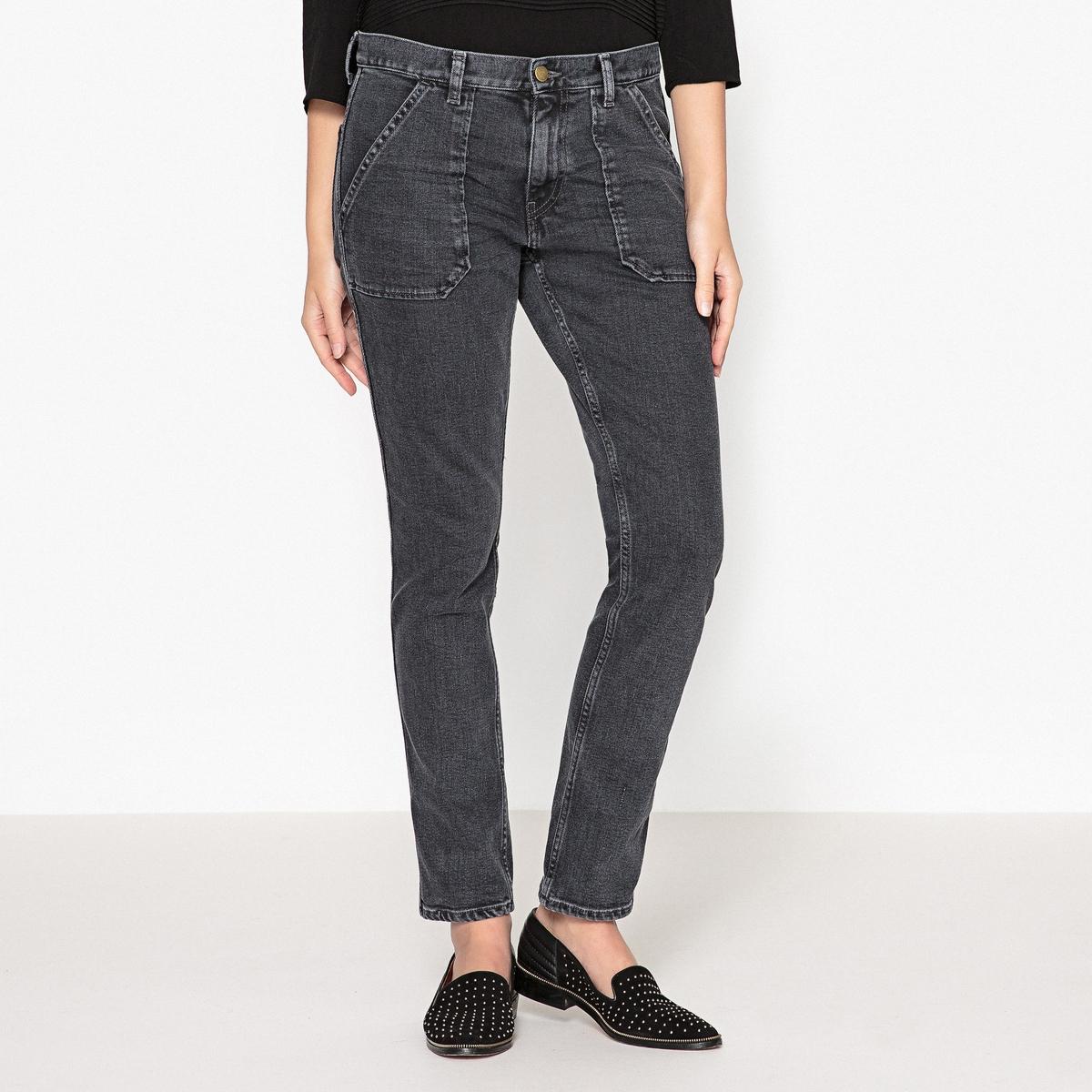 Джинсы из денима из хлопка стретч SALLY джинсы расклешенного покроя из денима стретч
