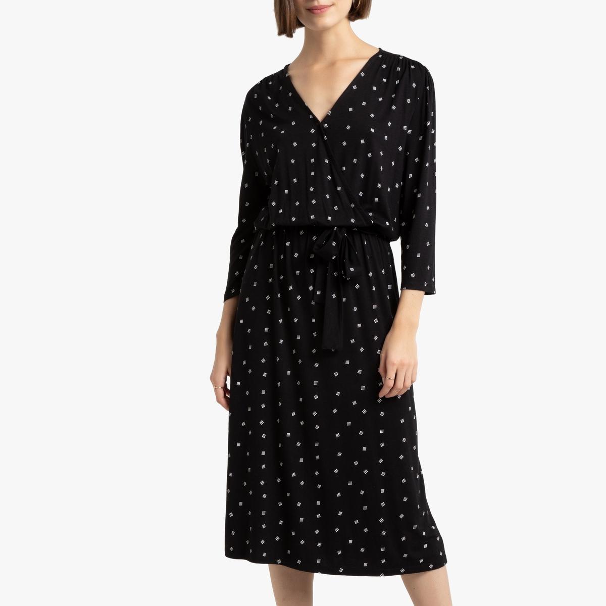 Платье La Redoute С запахом с принтом S другие