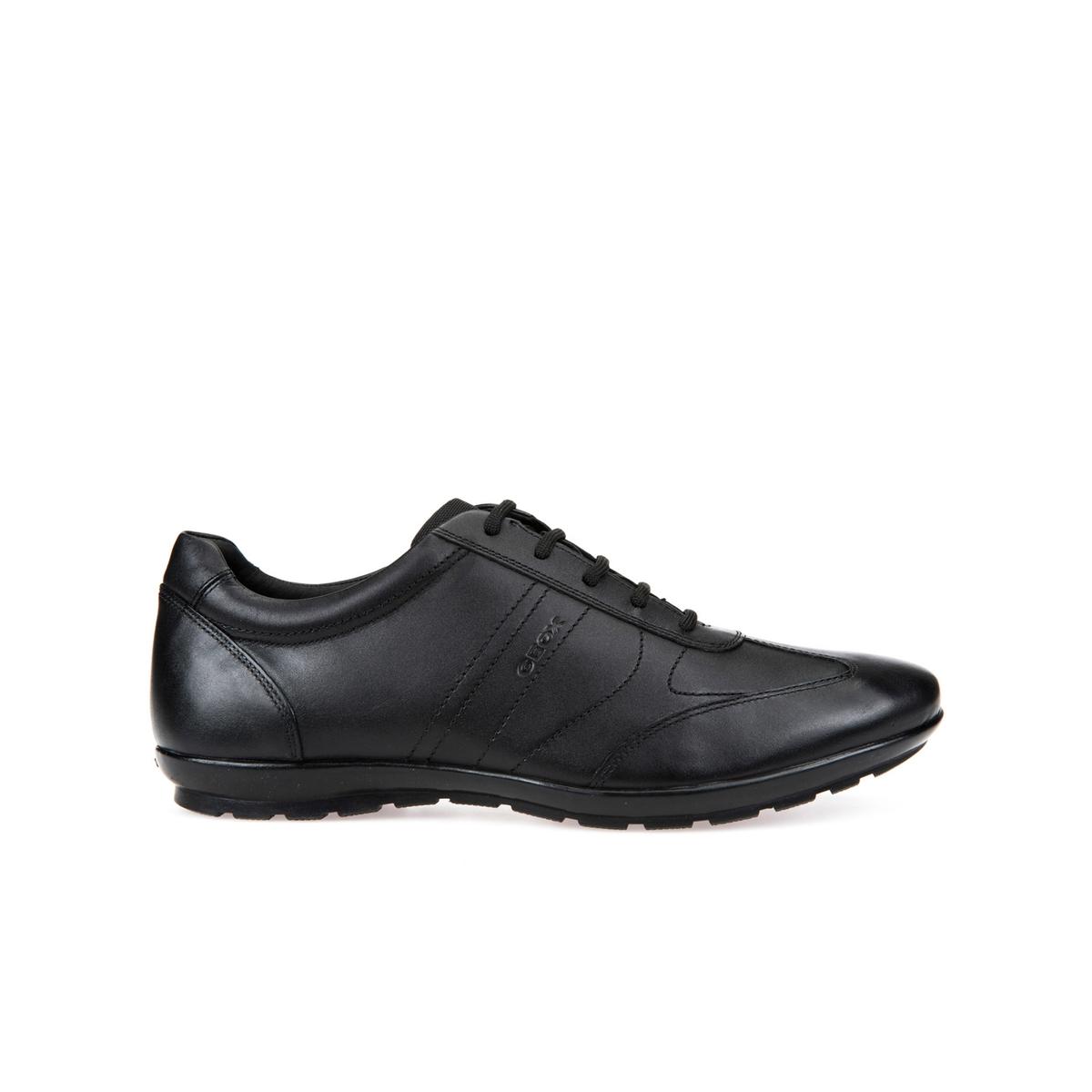 Кеды SYMBOLОписание:Детали  •  Спортивный стиль •  Плоский каблук •  Застежка : шнуровкаСостав и уход  •  Верх 95% кожи, 5% полиамида •  Подкладка 50% кожи, 50% синтетического материала<br><br>Цвет: черный<br>Размер: 40